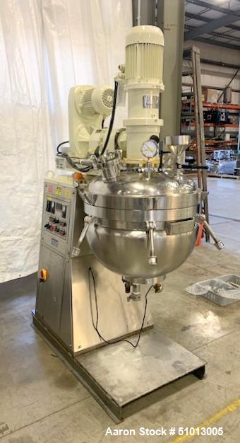 "Used- Ross Vacuum ""Turbo Emulsifier"" Reactor/Kettle, Model TE3-100"