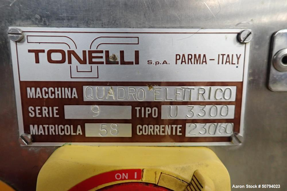 Used- Tonelli Universal 2000 U3300 Vertical Planetary Dough Mixer