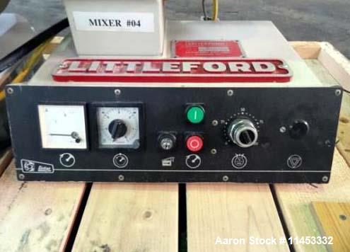 Used- Littleford Lodige Mixer, Model M20. Stainless steel construction. 20 liter capacity chamber with plow blades. Chamber ...
