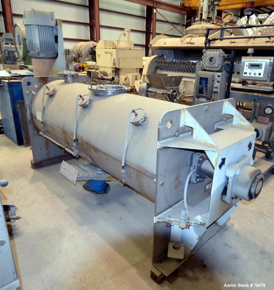 Used- American Process Cylindrical Plow Mixer, Model TD-24