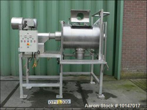 Used- Stainles Steel Fairfield Dalton Powder Turbo Mixer. T-arms,79 gallon