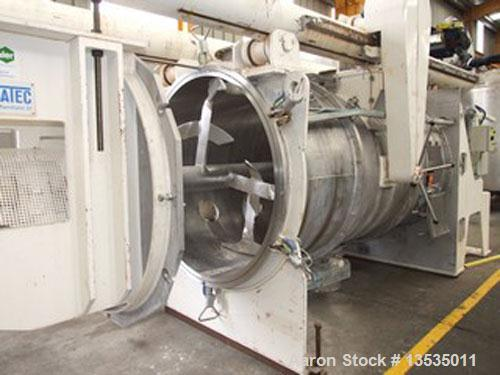 Used-Imcatec IM-A 4200 Mixer, stainless steel, total volume 148 cubic feet (4200 liter), working capacity 120 cubic feet (34...