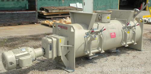Used- Stainless Steel Littleford Batch Type Plow Mixer, Model FKM1200D