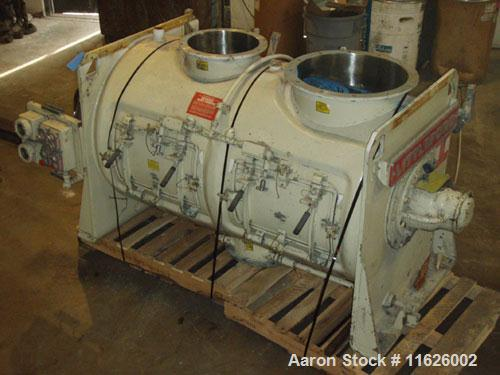 Used-Littleford FKM-1200-E stainless steel jacketed plow mixer. Capacity of 1200 liters or 43 cubic feet. Interior and all p...
