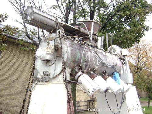 Used-Littleford FKM-1200D (4Z) Plow Mixer, 26 Cubic foot working capacity, working range 13-30 cubic feet