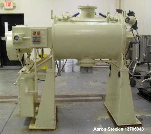 Used- Littleford, Model FKM-300-D, Mixer. Jacketed, chopper, sanitary stainless steel. 6 cubic foot working capacity. 11 cub...