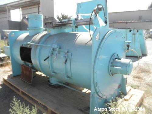"Used- Littleford Plow Mixer, Model FKM-3000-D. Stainless steel construction. Mixing chamber measures 42"" diameter x 108"" lon..."