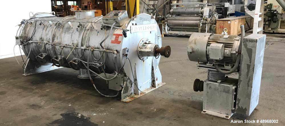 Used- Littleford Batch Type Plow Mixer, Model FKM-3000, 74 Cubic Feet Capacity.