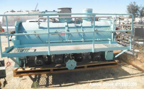 """Used- Littleford Plow Mixer, Model FKM-4200-D. Stainless steel contacts. Mixing chamber measures 48"""" diameter x 11' long, ai..."""