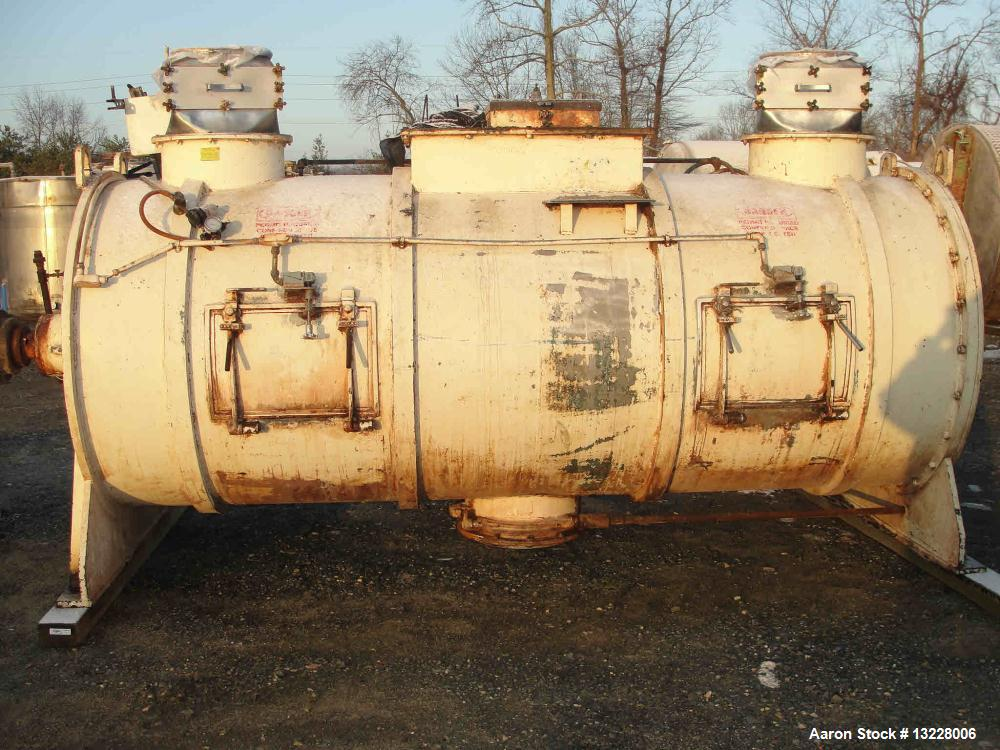 """Used-Littleford Mixer, Model FKM 5000 D.  Solid stainless steel shell, shell measures approximately 54"""" diameter x 136"""" long..."""