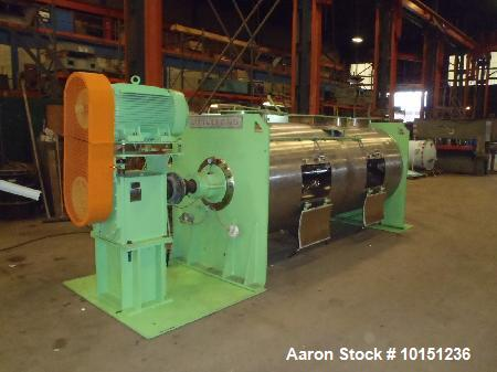 Used- Littleford FKM-5000D Stainless Steel High Speed Mixer. 100 hp main drive. (4) choppers with 10 hp drives, 230/460 volt...