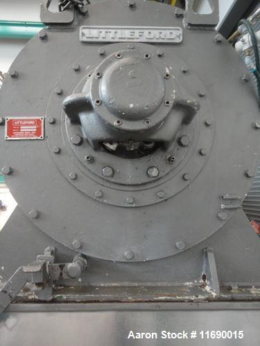 Used- Littleford 1200 Liter Stainless Steel High Shear Horizontal Plow Mixer, Mo