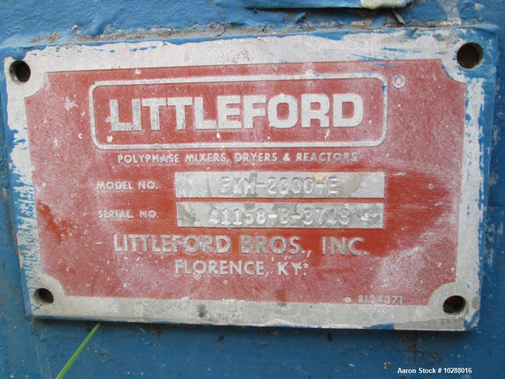 Used-Littleford Mixer, Model FKM2000E.2000 Liter working capacity