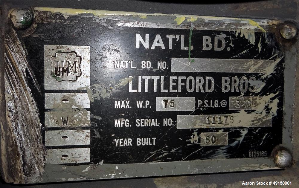 Used- Littleford Laboratory Plow Mixer, Model FM-50, 316 Stainless Steel