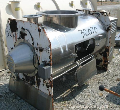 Used- Stainless Steel Morton Machinery Plow Mixer, Model B1200