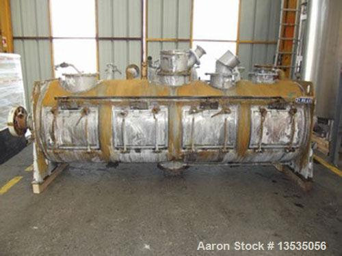 Used-Lodige Type FKM 2000 DA4Z Horizontal Mixer with Stainless Steel Jacket.  Total volume 528 gallons (2000 liters).  Inter...