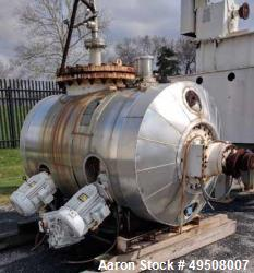 Used- Littleford Mixer, Model DVT600, 600 Liter, Stainless Steel.