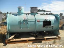 "Used- Littleford Plow Mixer, Model FKM-4200-D. Stainless steel contacts. Mixing chamber measures 48"" diameter x 11' long, ai..."