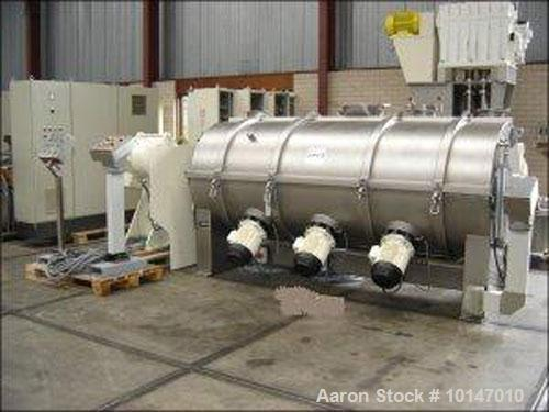Used- Stainless Steel MTI-Mischtechnik Powder Turbo Mixer. T-arms, type H-3300 PH, 872 gallon