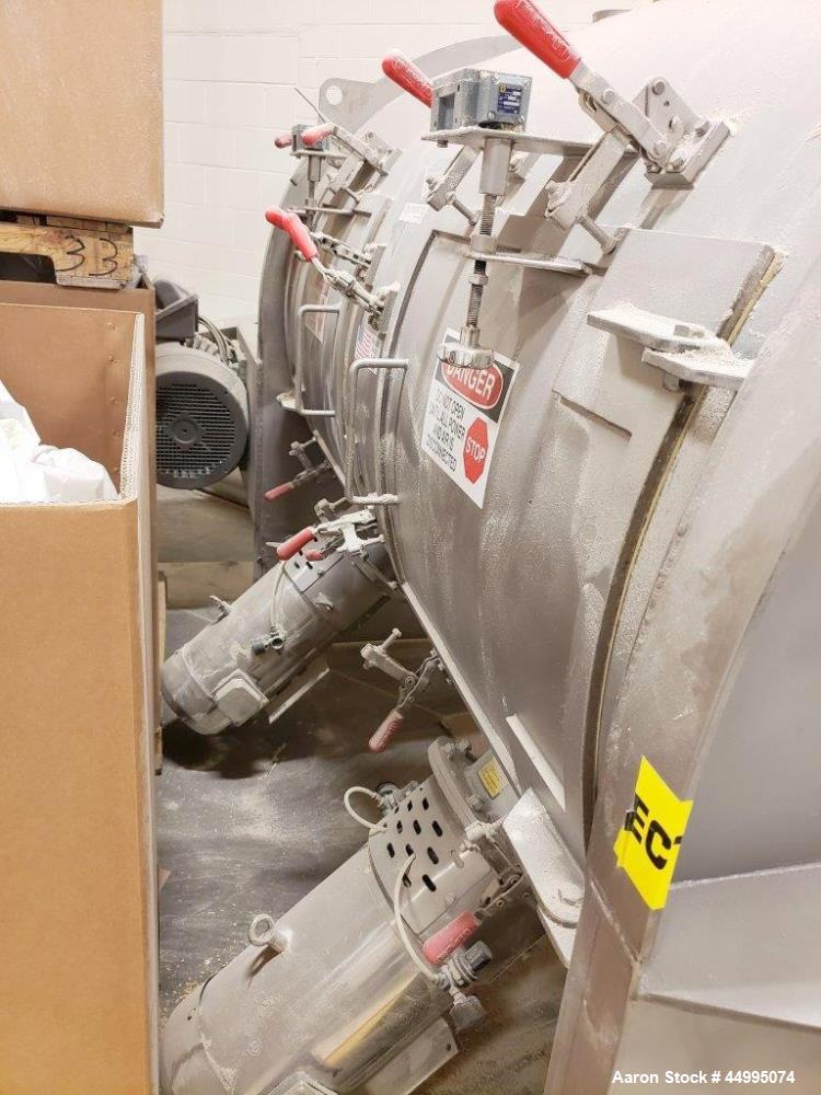 Used- Scott Horizontal Cylindrical Plow Type Mixer