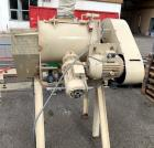 Used- Lodige Plow Mixer, Type FM 130D-1MZ. Stainless steel on product contact parts. 3 Cubic feet (86.6 liter) working capac...
