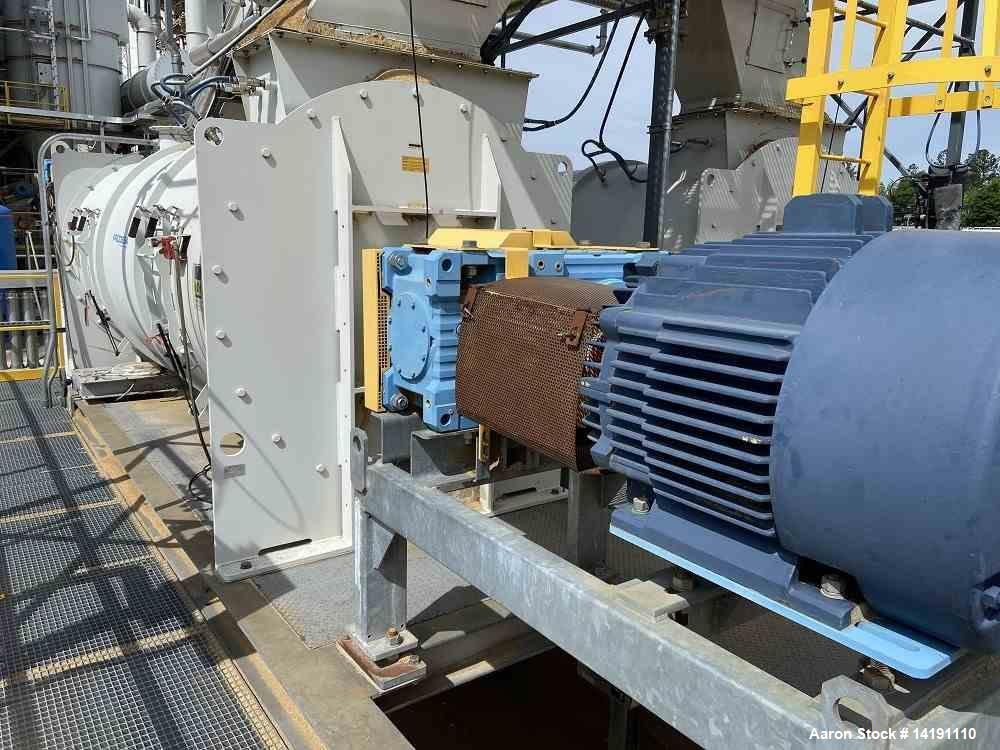 Used-370 Cu Ft (10500 Liter) WAM Group SpA Continuous Horizontal Single Shaft Pl