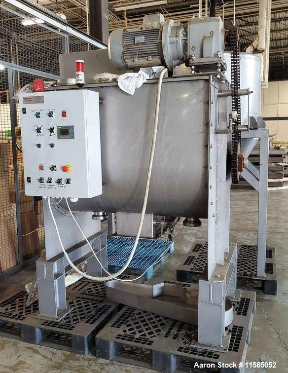 Used- 30 Cubic Foot  Stainless Steel Sanitary Double Ribbon Blender, 30 Cubic Fo