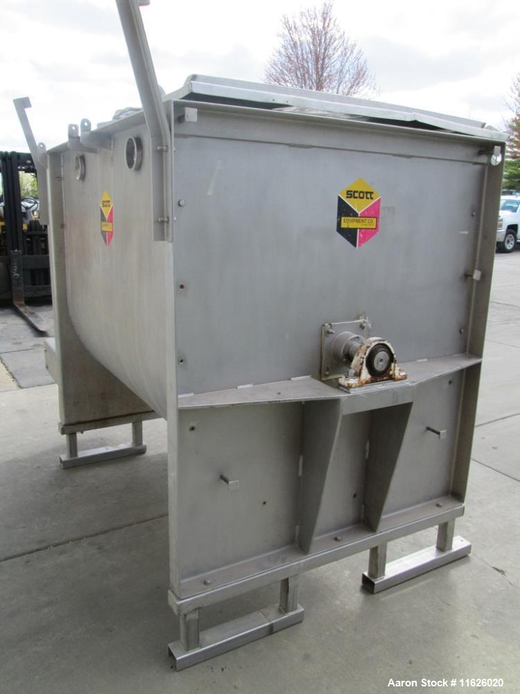 Used- Ribbon Blender, Approximately 65 Cubic Foot