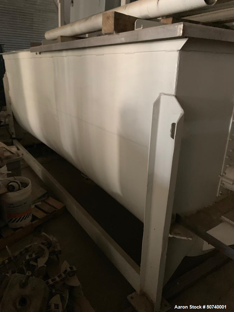 Used- 50 Cubic Foot Stainless Steel Ribbon Blender