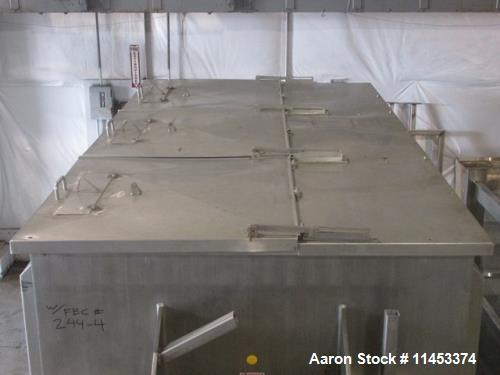 """Used- 300 Cubic Foot Aaron Process Ribbon Blender, Model IMB300. Sanitary stainless steel construction. Approximately 67"""" wi..."""