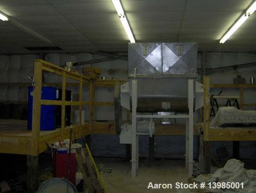Used-Aaron Process Equipment model IMB 35 double ribbon blender, 35 cubic feet. Trough constructed of stainless steel materi...