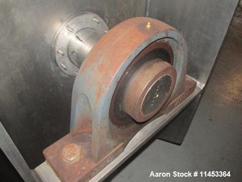 Used- 400 Cubic Foot Aaron Process Ribbon Blender, Model IMB400CF