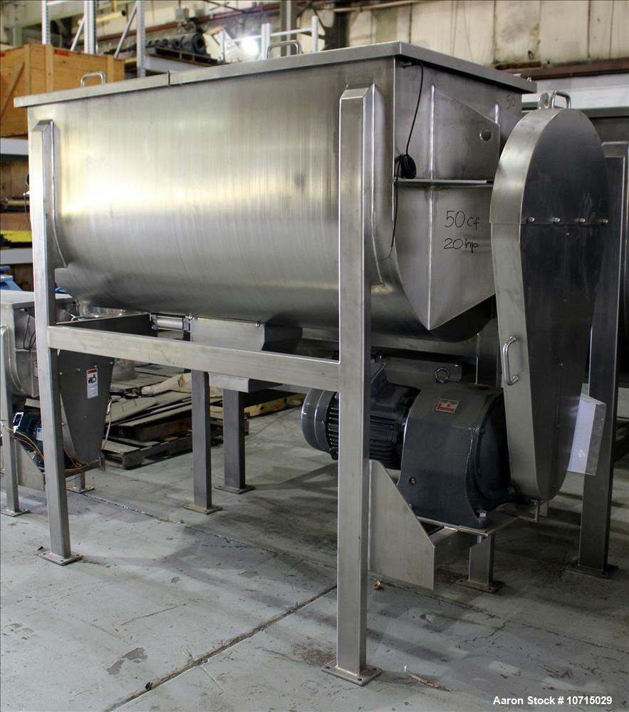New- Paul O. Abbe Model IMB-50, 50 Cubic Foot working capacity Ribbon Blender.