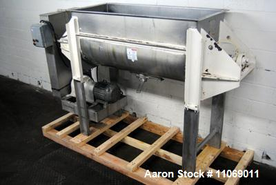 Used-Aaron Process Equipment Company 304 stainless steel Double Ribbon Blender. Model NR-24. 24 cubic feet working capacity....