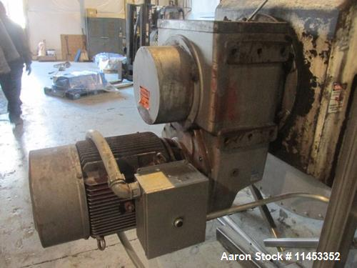 """Used- 200 Cubic Foot Aaron Process Ribbon Blender. Sanitary stainless steel construction, approximately 60"""" wide x 120"""" long..."""