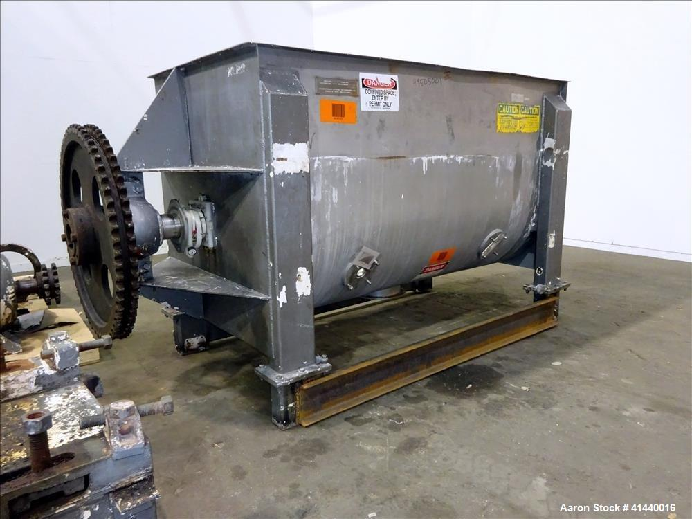 Used- American Process System Double Spiral Ribbon Blender, Model DRB 100.