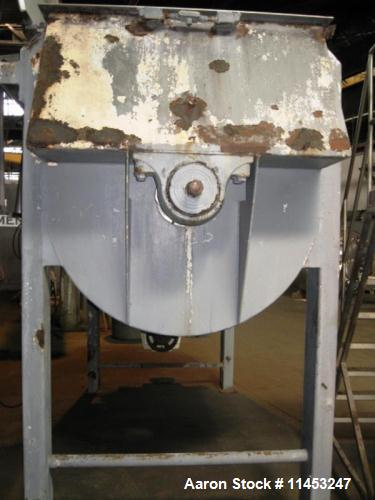 Used- American Process Double Spiral Ribbon Blender. Model DRB-155. Approximate 155 Cubic Foot Working Capacity, Stainless S...