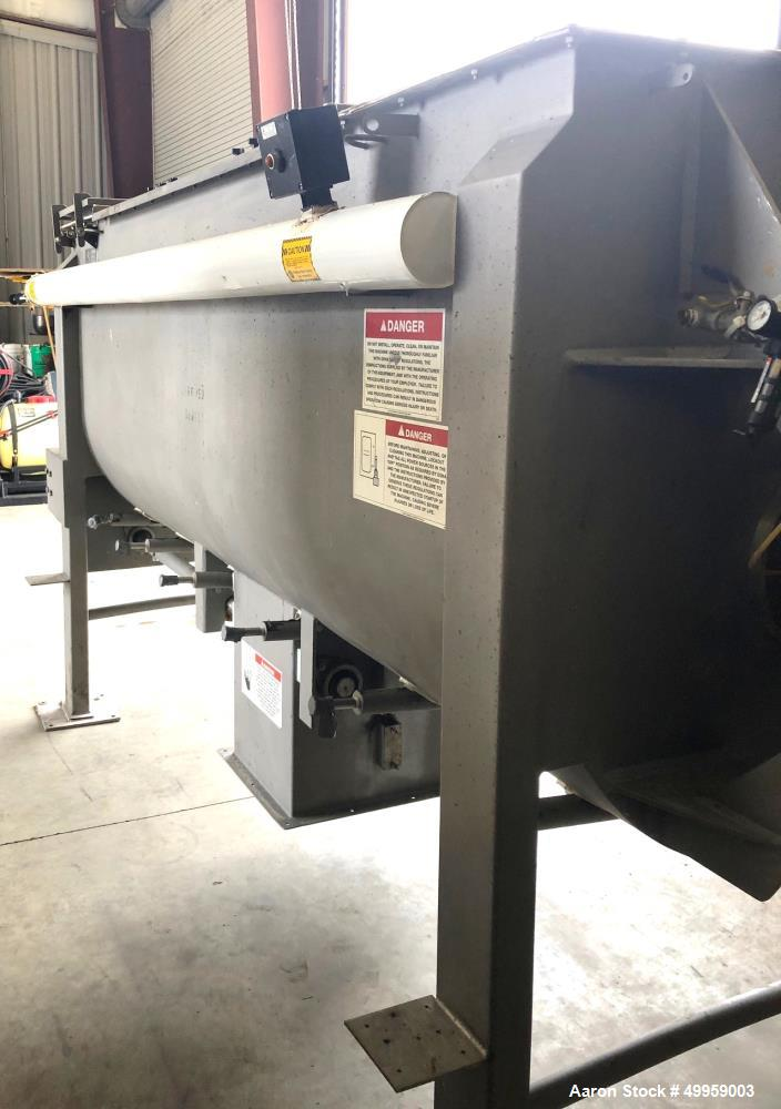 Used-American Process Systems, 95 cuft Ribbon Blender, Model U095, Type DRB-95, Stainless steel, Center discharge. 40 HP.  S...