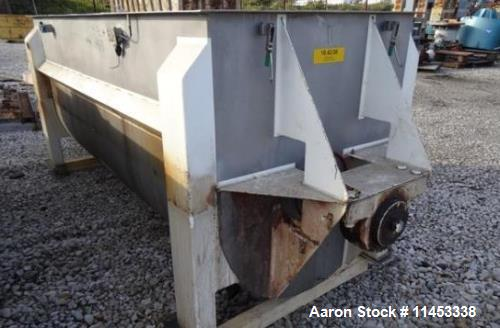 """Used- American Process Ribbon Blender, Model DRB-120. 120 cu. ft., stainless steel construction, approximately 44"""" wide x 12..."""