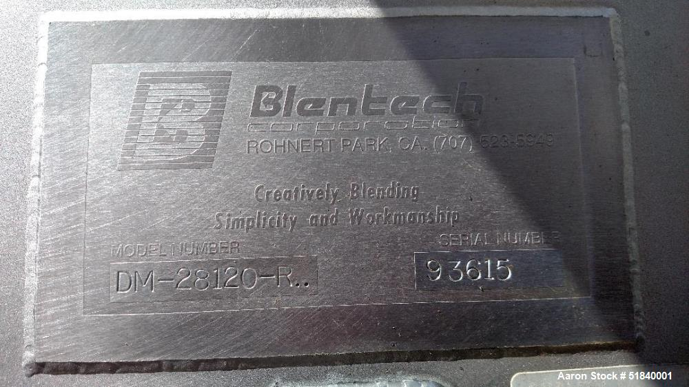 Used- Blentech Twin Shaft Ribbon Mixer