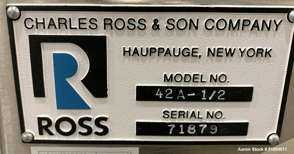 Charles Ross 1/2 Cubic Foot Ribbon Blender