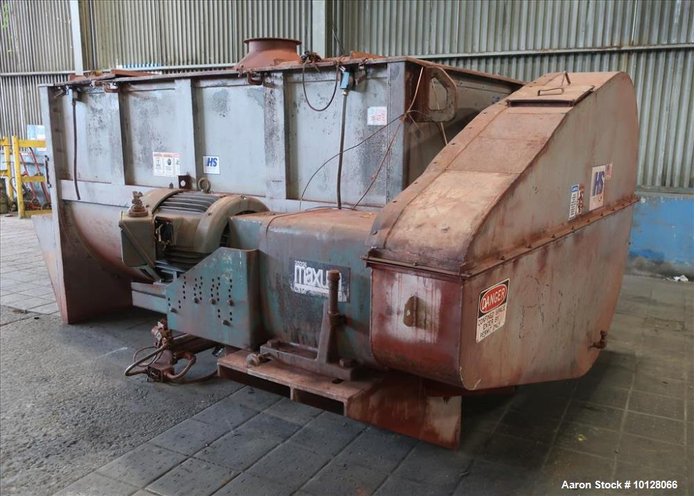 Used- Hayes & Stolz 196 Cubic Feet Carbon Steel Double Ribbon Blender