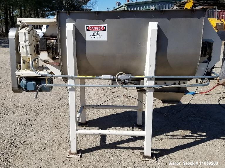 Used- Hayes and Stoltz Stainless Steel Ribbon Blender, 30 Cubic Foot.