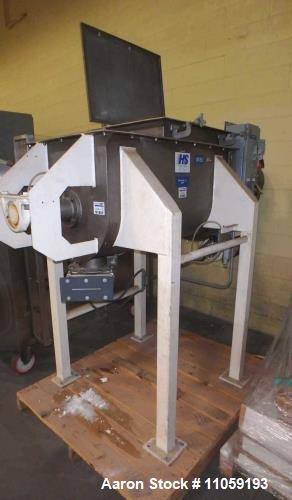 "Used- Hayes & Stolz 10 Cubic Foot Stainless Steel Ribbon Blender, Model HRSS10-695. Approximate 44"" x 22.5"" wide x 24"" deep...."