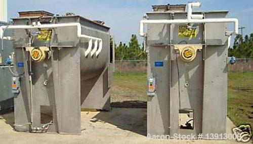 Used-Hayes & Stolz Double Ribbon Blender. Manufactured 1998. 260 cubic foot, food grade stainless steel, 40 hp drive, 10 rpm...