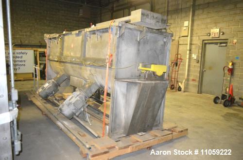 Used- 120 Cubic Foot S. Howes Stainless Steel Ribbon Blender