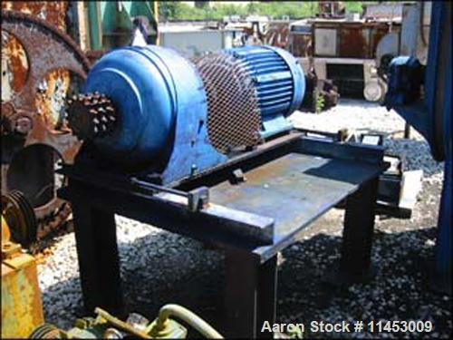 """Unused-Used Day 100 Cubic Foot Ribbon Blender. Stainless steel construction, 40"""" wide X 120"""" long trough, double ribbon, jac..."""