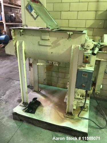 Used-JH Day 5 Cubic Foot (approximately) Stainless Steel Double Ribbon Blender