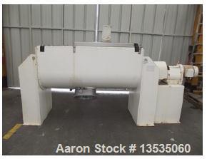 Used-KEK Gardner Type 600H Stainless Steel Ribbon Blender.  Maximum working capacity 21 cubic feet (60 liters).  40 Rpm, mot...