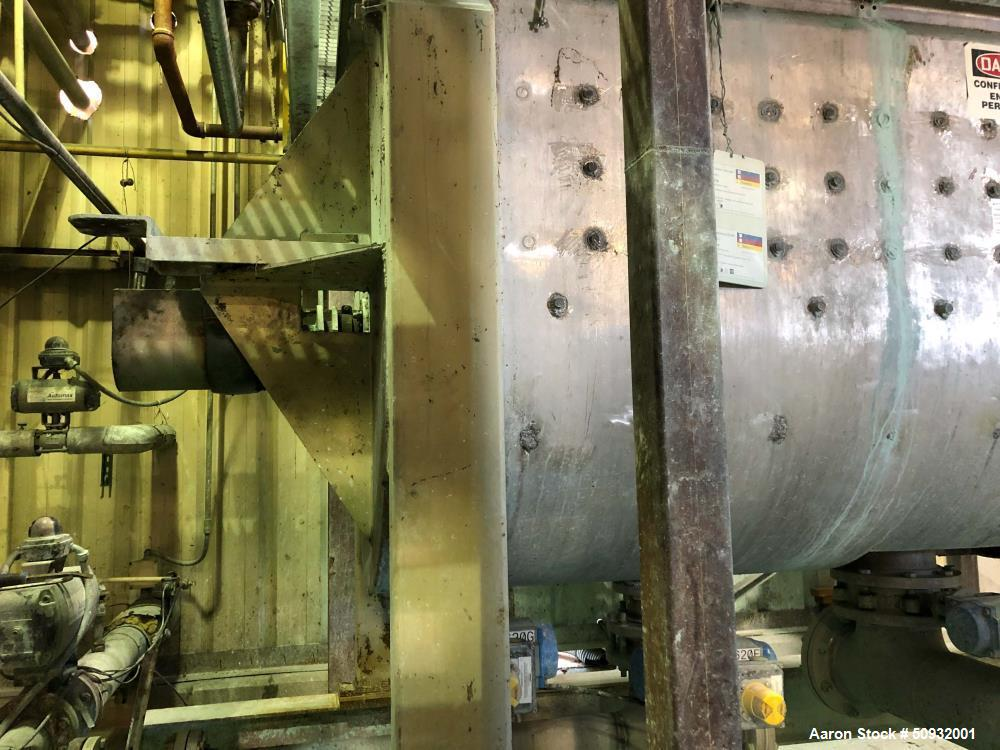 Used- Ribbon Blender, 140 Cubic Foot Working Capacity. Stainless steel. Jacketed